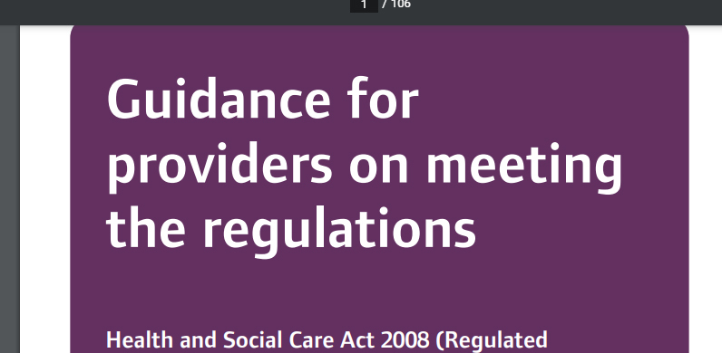 Guidance for providers