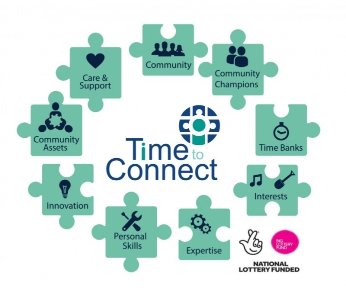 Time to connect graphic with lottery logo 01 692 593