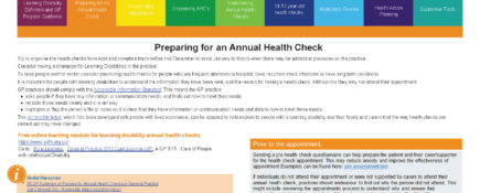 Learning Disability Annual Health Check Toolkit