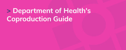 Department of Health's Coproduction Guide
