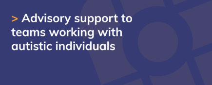 Advisory support to teams working with autistic individuals